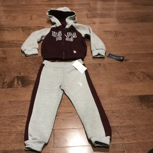 US POLO ASSN. jacket and pants. Soft and comfy